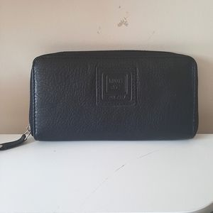Roots Zip Leather Long Wallet
